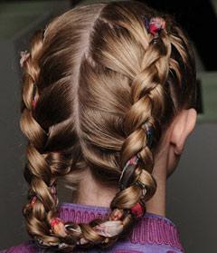 Современная французская коса имеет несколько вариантов расположения.
