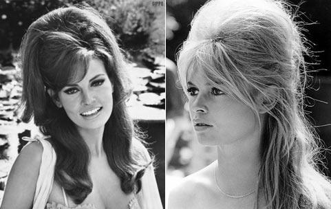 ретро прически 60-х годов.