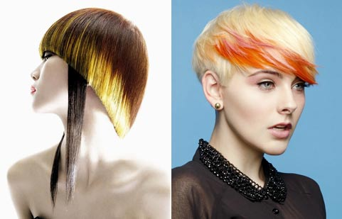 Цветные кончики волос
