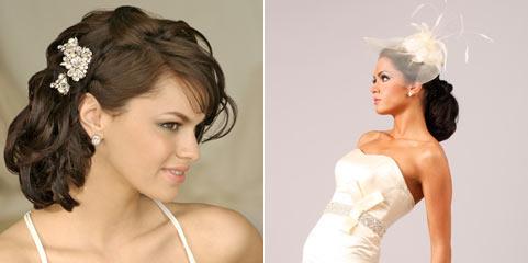 классические свадебные прически для средних волос